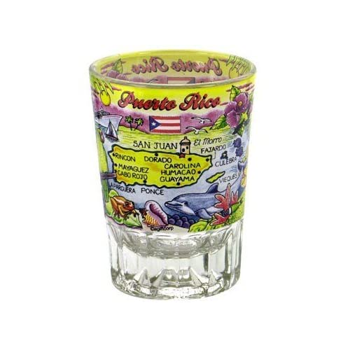 Pools & Spas Home & Garden Puerto Rico Shot Glass Souvenir **free Shipping***