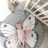 Baby Rugs Crawling Mat, TYUW Cartoon Butterfly Lion Sleeping Rugs,Children Anti-Slip Game Mat Cotton Floor Play Mat Kids' Room Decor