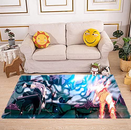 Tappeto Camera da letto soggiorno cartone animato Anime Naruto Camera Camera dei Bambini comodini tappetini casa pavimento antiscivolo antiscivolo-a_50X80CM