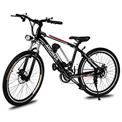 Strong Body – The fork is made of carbon steel and the handle bar is made from aluminum alloy. This makes the bike light weight yet very sturdy. These metals can take heavy weights as well as rough terrain, and has djustable seat/handbar angle/stem's...