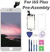 For iPhone 6S Plus Screen Replacement, Arotech Pre-assembled 5.5 Inch LCD 3D Touch Display Digitizer Assembly Kit with Repair Tool, Compatible with A1634 A1687 A1699 All Version (White)