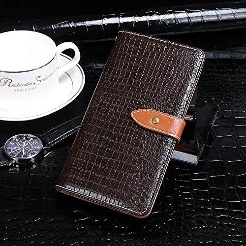HUANGYUNCHAO HYC Phone Case For Lenovo A6 Note Crocodile Texture Horizontal Flip Leather Case with Holder & Card Slots & Wallet cellphone case (Color : Darkbrown)