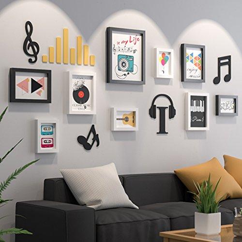 William 337 Musical Elements Cadre mural pour chambre d'enfant Motif photo