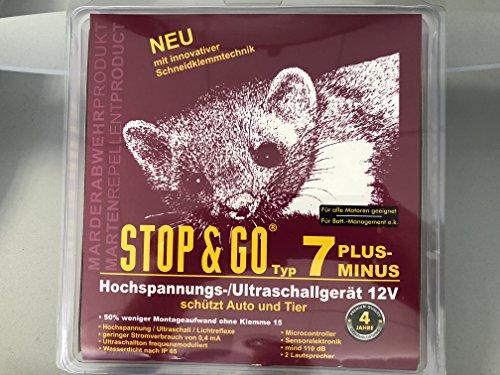 STOP & GO Hochspannungs Marderabwehrgerät mit Ultraschall 7 Plus-Minus SKT