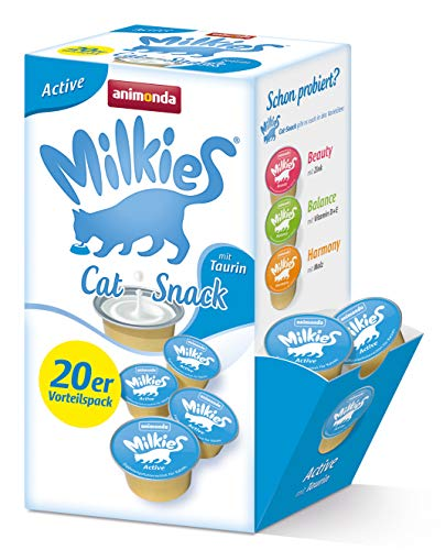 animonda Milkies Active, Katzenmilch portioniert, 4 x 20 Cups à 15 g