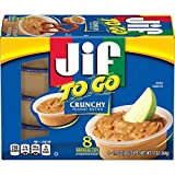 Jif To Go Crunchy Peanut Butter, 48-1.5 Ounce Cups, 9g (7% DV) of Protein per Serving, Packed with Peanuts for Extra Crunch, Snack Size Packs