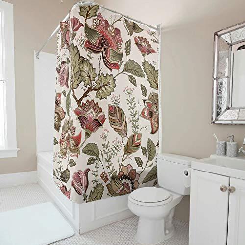 Theheafit douchegordijn, bedrukt 100% polyester, badgordijn, zacht, machinewasbaar, interieur voor stoelen en badkuipen, met haken 1565062972VNHGA