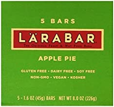 LARABAR Fruit & Nut Food Bar, Apple Pie, Gluten Free 1.6 ounce, 5 count (Pack of 2)