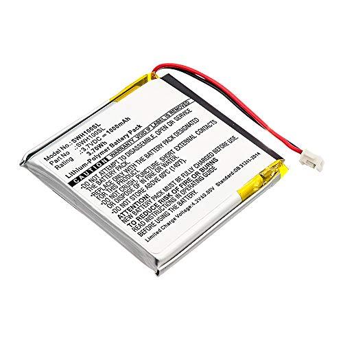 subtel® Batería de Repuesto 1588-0911, SM-03, SP 624038 para Sony WH-1000xM3, WH-1000MX4, Accu Auriculares inalambricos 1000mAh