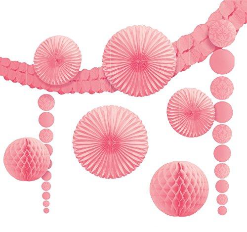 amscan 249261 Dekorationsset zum Aufhängen, Rosa, 6