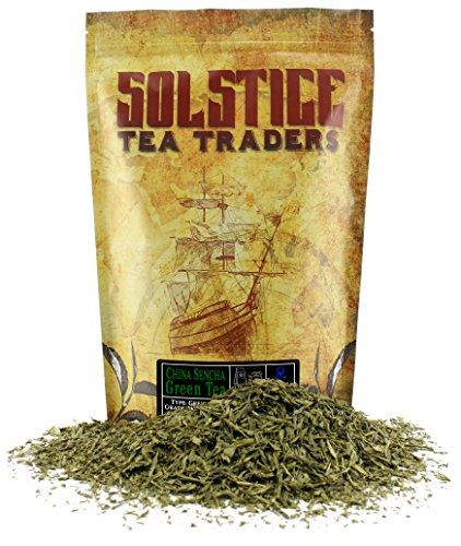 Solstice Loose Leaf Sencha Green Tea, 1 LB, Bulk 16-Ounces Japanese Style Green Sencha Tea - Approx 200+ Cups