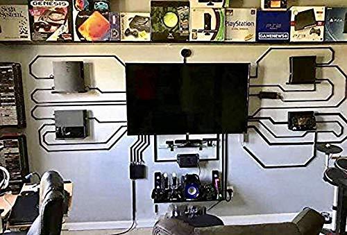 Elektrischer Magischer Wandständer für PS4 PS4 PRO PS4 Slim Spielkonsole, 3D-Druck, Kunststoff, Wandaufhängung problack