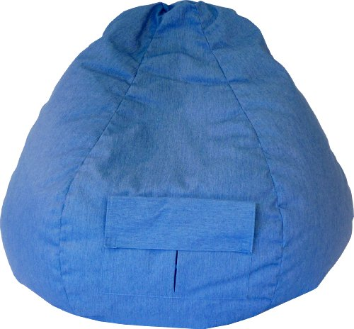 Gold Medal Bean Bags Medium Denim Beanbag, Tween Size, Blue Jean