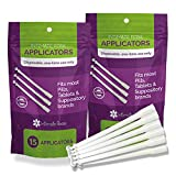 30 Count Vaginal Suppository Applicators, Individually Wrapped, Disposable Applicator - Fits Most Boric Acid Suppositories and More, from Intimate Rose, Pack of 30