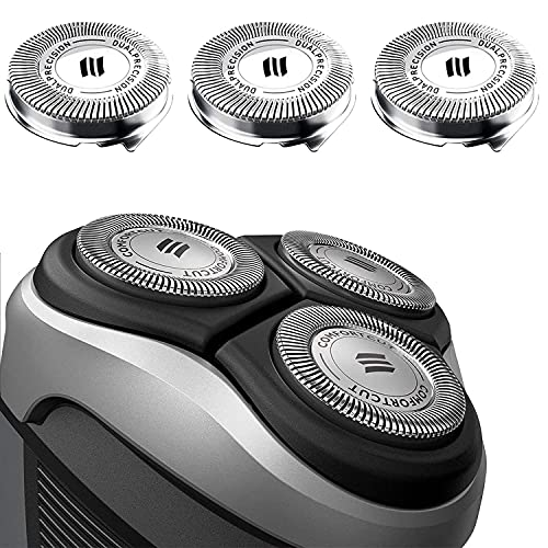 HQ8 Replacement Heads for Philips Norelco Shaver Razor Blades New Upgraded Compatible with Philips Norelco Shaver & Aquatec Shavers HQ7100, HQ8160, AT810, PT720, PT860, 8892XL, 3 Pack
