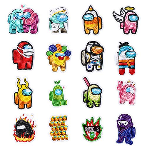 Pack of 12 Style B Jane Shop Button Painting Mosaic Sticker DIY Handmade Art Kits for Kids