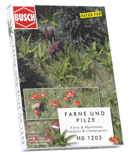 Hornby France - Busch - 1203 - Circuit - Train - Fougères et champignons