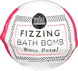Whole Foods Market, Fizzing Bath Bomb, Rose Petal, 2.3 oz