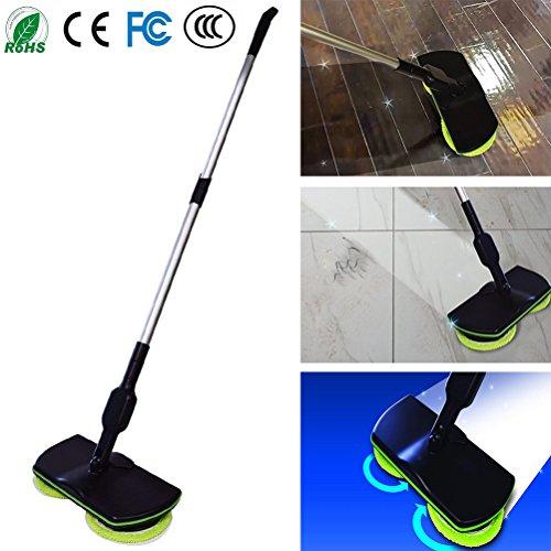 Fregona giratoria eléctrica - Fregadora recargable, sin cable, limpiadora de piso Powder Scrubber Mop