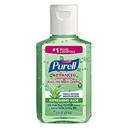 prepararse para un apagón. PURELL Advanced Hand Sanitizer Soothing Gel for the workplace, Fresh scent, with Aloe and Vitamin E - 2 fl oz bottle (Pack of 6) - 9682-04-EC<