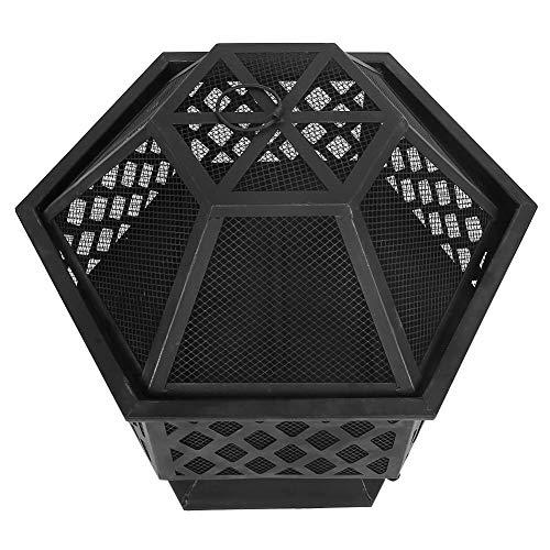 Brasero de carbón, brasero de Picnic de Acero al Aire Libre brasero de Barbacoa Hexagonal de Alta dureza, para Picnic de Acampada