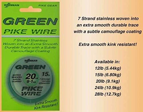 DrennanGreen Pike Wire 12,7Kg Stahlvorfach