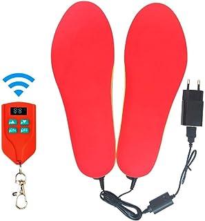 Sici Plantillas calefactables Calentador de pies Kit de termosol calefactable con Interruptor de Control Remoto Calentador inalámbrico a batería Recargable
