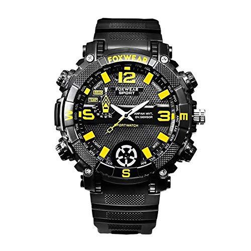 KOBERT GOODS Outdoor-Armbanduhr (FOX9C) Analoge Smart-Watch mit integrierter Kamera (32GB Speicher) für Foto- und Videoaufnahmen – inkl. Mikrofon für Audioaufnahmen/synchronisierten und LED-Lightning
