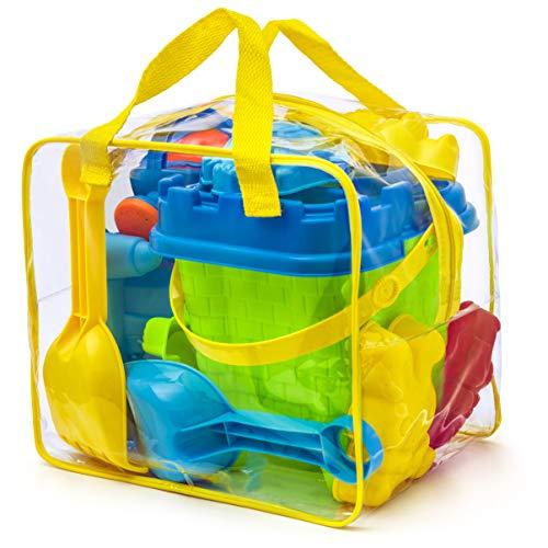 Completo conjunto de juguetes para la playa en bolsa reutilizable con...