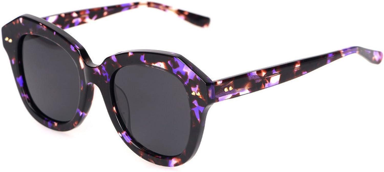 Wkaijc Fashion Creative Big Box Personality Comfort Leisure Retro Face Sunglasses Sunglasses,D