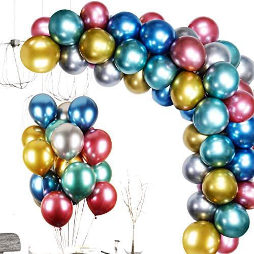 Sooair Luftballons, Ballons Bunt 110 Stück, Luftballons Geburtstag 10 Inch, Helium Luftballons Latexballons für Hochzeit Dekoration Party Deko (100)