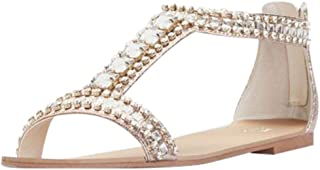 Crystal and Jewel Embellished Flat Sandals Style Posey