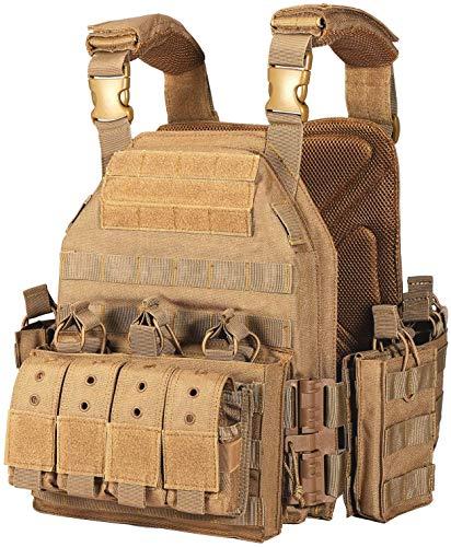 CAMO Quick Release Tactical Outdoor Vest (Khaki)