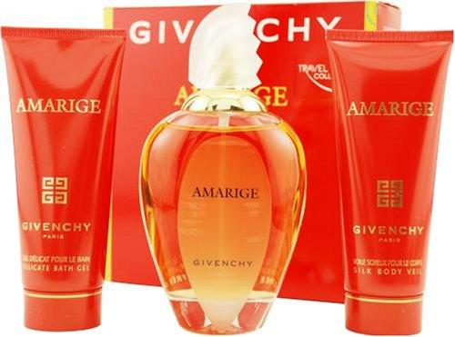 Amarige By Givenchy For Women. Set-edt Spray 3.4-Ounce & Body Lotion 2.5-Ounce & Bath Gel 2.5-Ounce