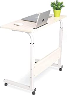 BEONE Adjustable Mobile Bed Table Desks, Portable Laptop Computer Stand Desks, Mobile Laptop Desk Computer Table, for Bed ...