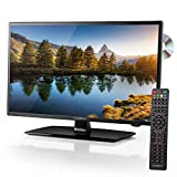 Carbest - Antena DVBT para caravanas y autocaravanas (LED, TV 18,5', DVB-T2, S2, Reproductor de DVD C, USB 12 y 220 V)