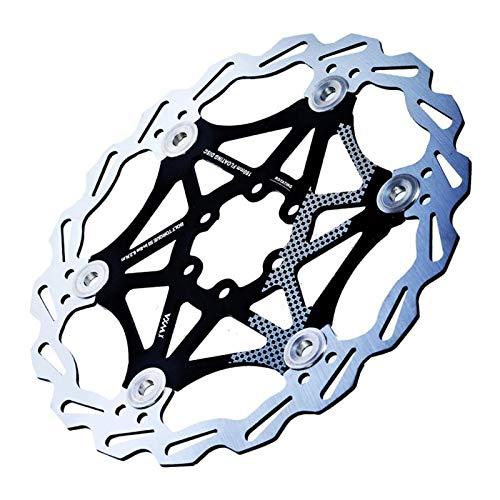 perfeclan Disco Freno 180mm 203mm 6 Tornillos Disco de Freno Flotante de Bicicleta Ciclismo Rotor Mountain Bike de Aluminio - 180mm Negro