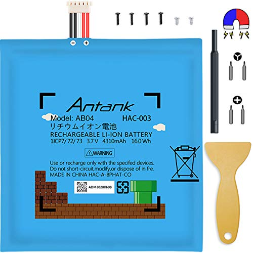 Antank HAC-003 Marlo Edition Battery Replacement kit, All-in-one Suit Gear for Nintendo Switch, 4310mAh Capacity with Ultra Cells, Satefy Certified, Repair DIY Game Console HAC-001 Internal Battery
