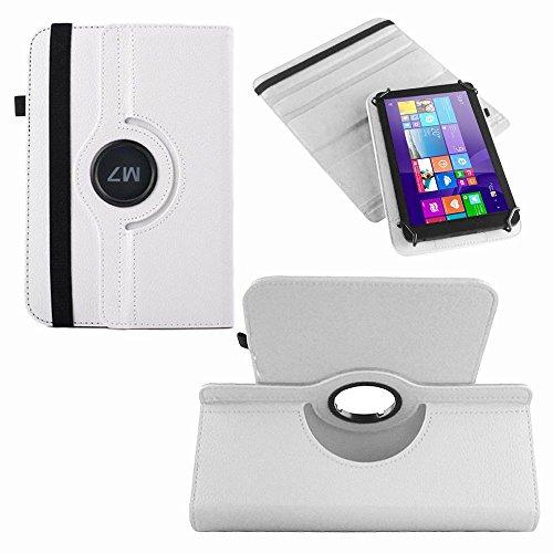 NAUC Tablet Hülle für Haier Pad 971 Tablet Tasche Schutzhülle Universal Bag Etui, Farben:Weiss