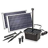 Solar Filtro de Estanque Set Completo Profesional - 1700 L/H Capacidad Transporte + 2x 25W Módulo - para Jardines hasta 5.000l - Decorativo Juego Agua - Bomba Esotec 100904