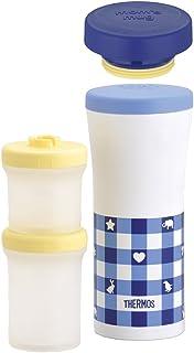 サーモス THERMOS 保冷離乳食ケース&ケータイマグ JBL-200 ブルーチェック(BC)