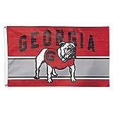 Georgia Bulldogs Flag 3x5 Vintage Throwback Logo Deluxe Grommets Reinforced Flyend Vault
