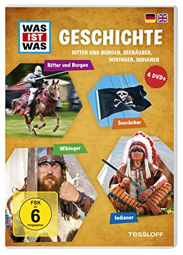 Was Ist Was DVD Geschichte. Ritter und Burgen, Seeräuber, Wikinger, Indianer