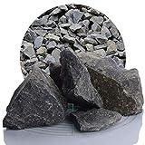Schicker Mineral Basalt Gabionensteine schwarz 25 kg, Bruchsteine in verschiedenen Körnungen, Steine für Ihre Gabionen (60-120)