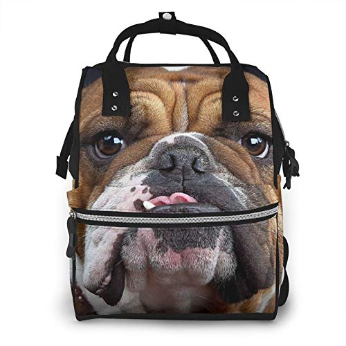 Risating Mummy Backpack - Bulldog Baby Changing Bags Large Capacity Durable Twill Canvas for Baby Care