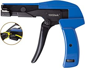 Cable Tie Gun - Fastening and Cutting Tool with Steel Handle Special for Nylon Cable Tie Fasten and Cut Cables in Blue