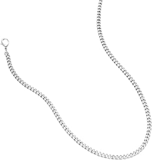Cuban Chain Set: 2 Pcs Silver Gold Double Layered Necklace Jewelry for Women Men Girls Boys