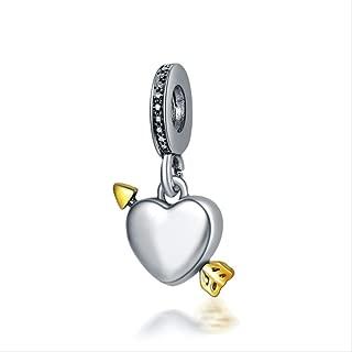 Joyas 1pc Flecha De Cupido Amor Script Amor Notas Dados Mum BOT Arco Corazón DIY Perla Fit Pandora Charms A1649