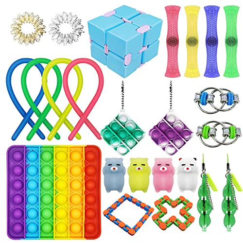 Cheap Fidget Toy Pack, 24 Pack Fidget Pack Toys Set Anti Anxiety, Stress Relief Fidget Pack Toy for Kids Adults ADHD Autism,Toy Gifts for Birthday Christmas