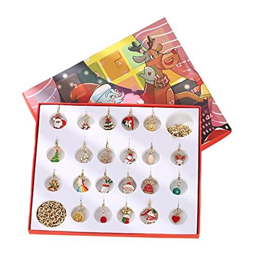 F Fityle 22 Piezas Colgante de Navidad, Calendario de Navidad, Collar DIY Scrapbooking Hecho a Mano, para Navidad, niños, niñas, Mujeres, Regalos